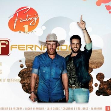 Aniversário Factory - Show nacional com Davi e Fernando